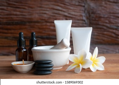 Spa and wellness setting with flowers homemade ingredients . Dayspa nature products with nature background.