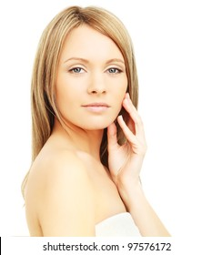 Spa woman isolated - clean skin