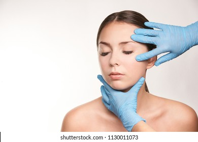 Spa woman treatment. Doctor dermatology clinic. Cosmetology, beauty skin.