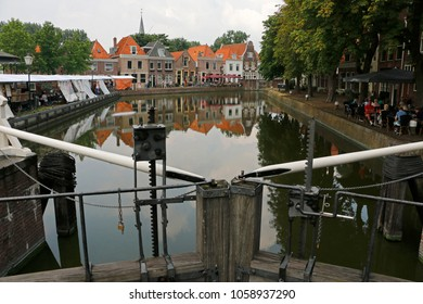Spaarndam Netherlands July 26 2014 An ancient dam built in 1285 by count Floris V of Holland to protect the land against the salty sea water
