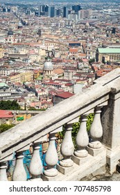 Spaccanapoli, Naples Italy.  View of Spaccanapoli street splitting city center. Vertical