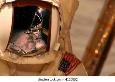 Space astronaut on moon
