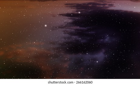 Space background with nebula and stars.
