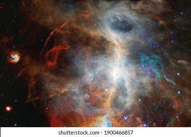 Space background with star field. Science fiction wallpaper. Elements of this image furnished by NASA