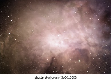 Space digital art background with real stars and nebula.