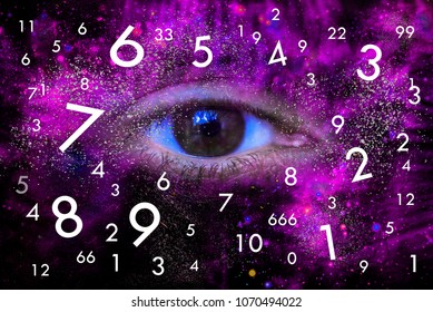 Space eye of the Universe and world of numerology