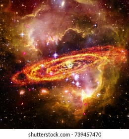 Space and galaxy. The elements of this image furnished by NASA.