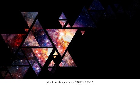Space and geometry design. Minimal art concept. Abstract background. Elements of this image furnished by NASA.