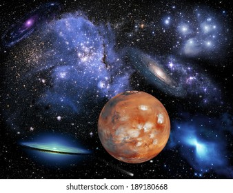 Space landscape. Elements of this image provided by NASA
