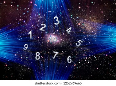 Space life of figures, numerology