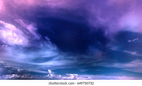 space night sky with cloud and star, abstract background