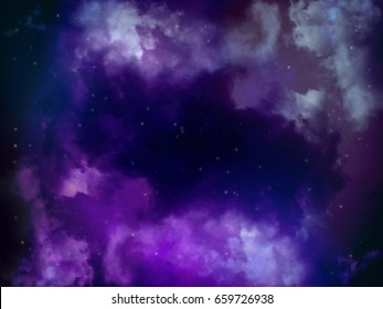 space night sky with cloud and star, abstract science background