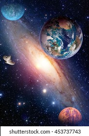 Space planet galaxy milky way Earth Mars universe astronomy solar system astrology. Elements of this image furnished by NASA.