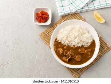 space seafood curry japan with rice