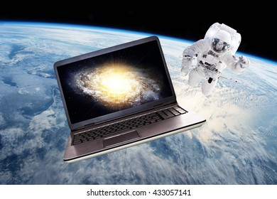 Space Technology - Elements of this image furnished by NASA