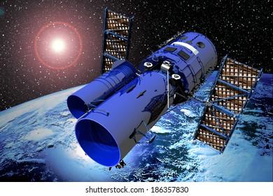Space Telescope Over Earth