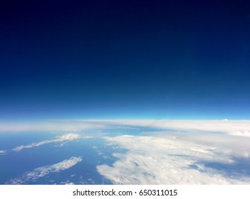 Space, view from a airplane