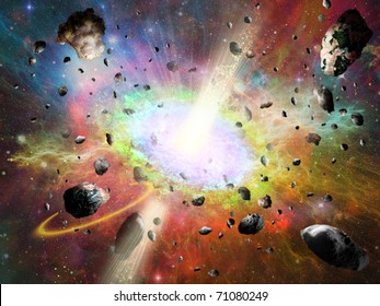 space vortex fantasy and asteroids