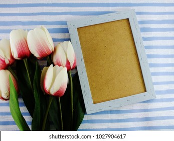 space wooden background with flower decoration