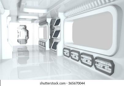 spaceship 3d render