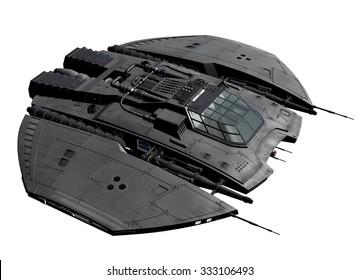 Spaceship - 3D rendered computer artwork