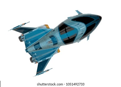 spaceship explorer 3d illustration