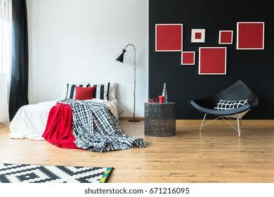Red Bedroom Interior Images Stock Photos Vectors Shutterstock
