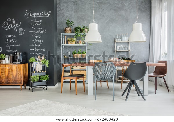 Amazing Spacious Dining Room Kitchen Annex Modern Royalty Free Pdpeps Interior Chair Design Pdpepsorg