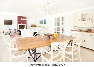 spacious livingroom in a modern leisure house