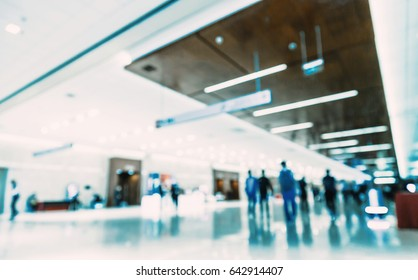 Spacious lobby, blurred, abstract background.