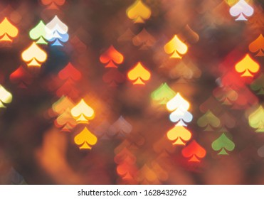 spades bokeh blur abstract background.