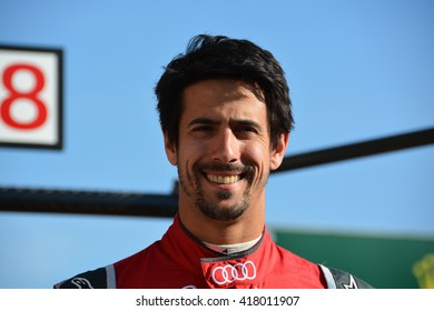 SPA-FRANCORCHAMPS, BELGIUM - MAY 4: Lucas Di Grassi (Audi Sport Team Joest) posing in the pitlane during round 2 of the FIA World Endurance Championship on May 4, 2016 at Spa-Francorchamps, Belgium.