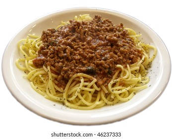 spagetti bolognese on the plate