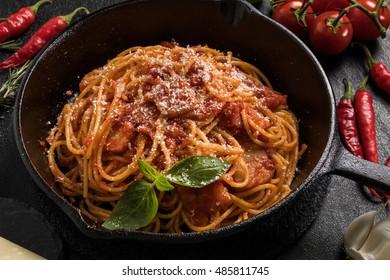 Spaghetti alla Amatriciana in Italian cuisine