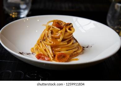 Spaghetti all'amatriciana in Rome