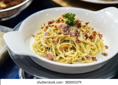 The spaghetti bacon