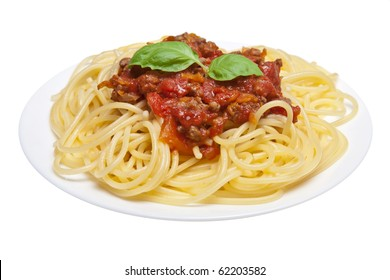spaghetti bolognese isolated