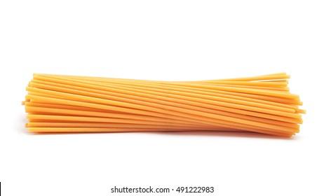 spaghetti bucatini pasta isolated
