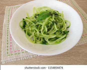 Spaghetti cucumber salad with vegetable noodles form spiralizers