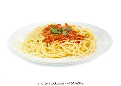 Spaghetti noodles  isolated background