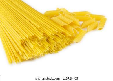Spaghetti and penne