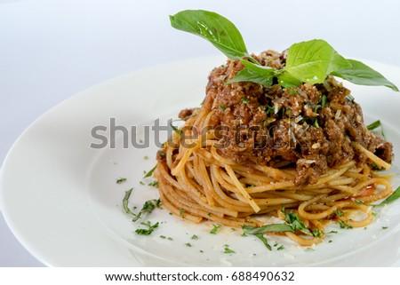 Spaghetti Ragu Alla Bolognese Sauce On Stock Photo Edit Now