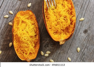 Spaghetti squash  top down view