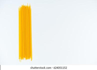spaghetti white background