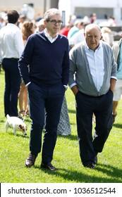 A Coruña, Spain .07/25/2015. Amancio Ortega Gaona, founder of the Zara empire and Pablo Isla CEO Inditex