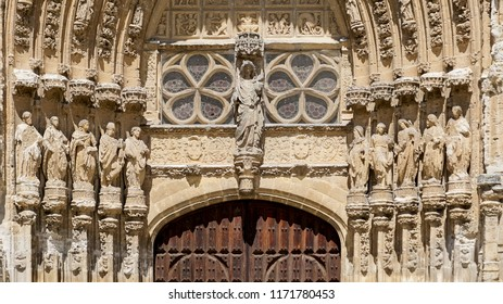 spain; 08 18 2018: Cathedral of the city of Palencia in Spain