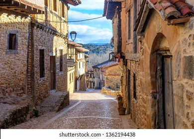 calatañazor, Spain. 14th  March, 2019: medieval town of calatañazor at soria, Spain