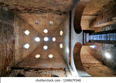 Spain, Andalusia, Granada, mosque baths (hammam) of the Alhambra, listed as World Heritage by UNESCO.