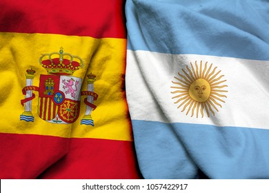 Spain and Argentina flag together