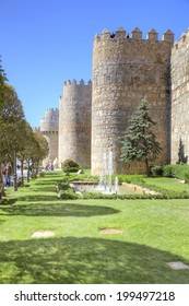SPAIN, AVILA - May 03.2014: The historic center of the medieval city